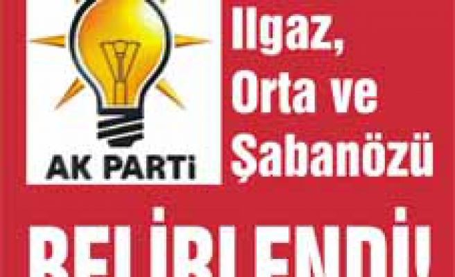 AK Parti Çankırı ilçe Belediye Başkan adayları belirlendi