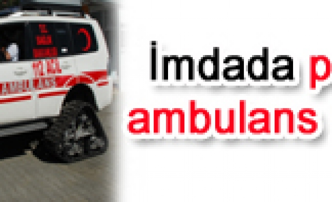 Paletli kar ambulansı devreye girdi.