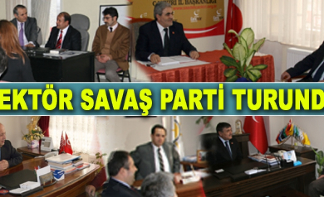 Rektör Savaş siyasi parti il başkanlıklarını ziyaret etti