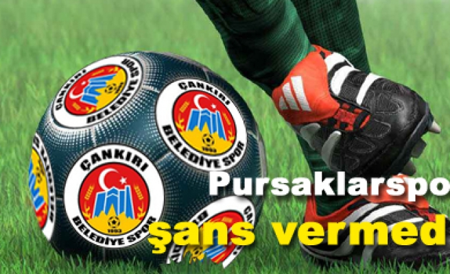 Pursaklarspor 2 Çankırı Belediyespor 1 Maç sona erdi...