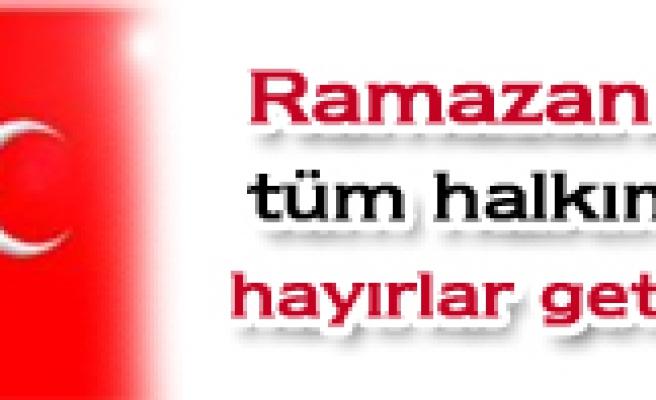 Ramazan ayı Tüm halkımıza hayırlar getirsin