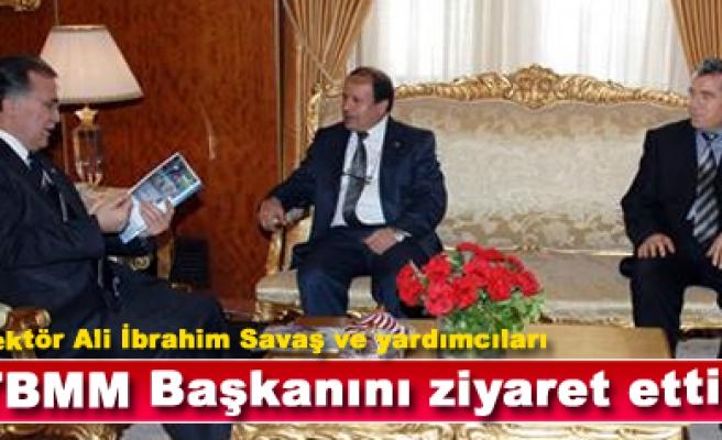 Rektör Savaş,TBMM Başkanı Mehmet Ali Şahin'i zyaret...