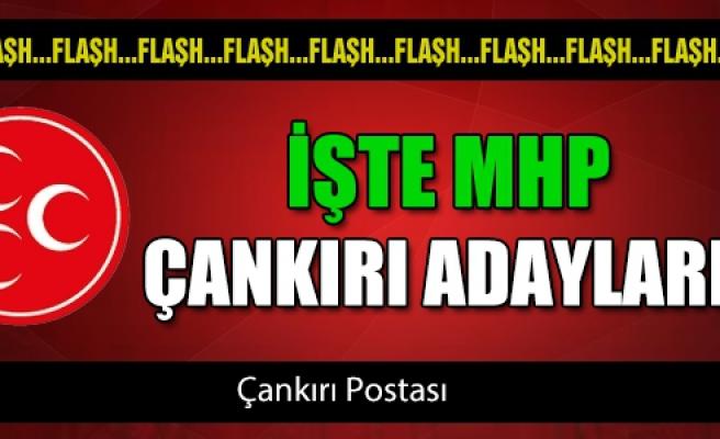 İşte MHP'nin Çankırı adayları!