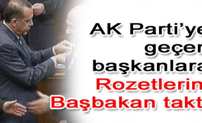 Partiye katılım Rozetlerini başbakan Erdoğan taktı