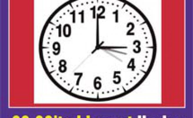 Saatlerinizi 1 saat ileri almayı unutmayın!