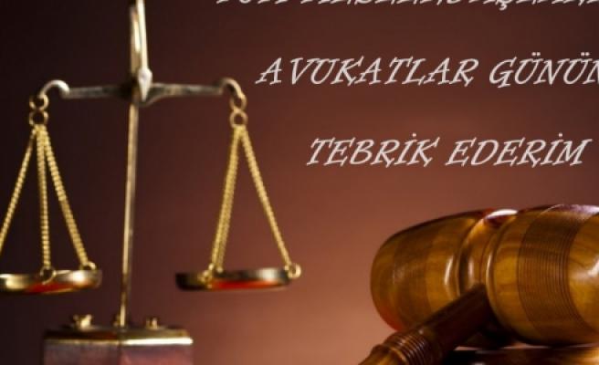 Şahin'den Avukatlar günü mesajı