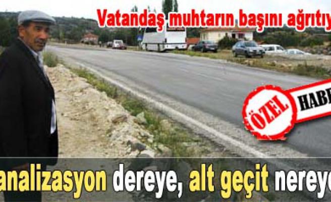 Yol genişletme çalışmaları Kesecik köylüleri sıkıntıya soktu!
