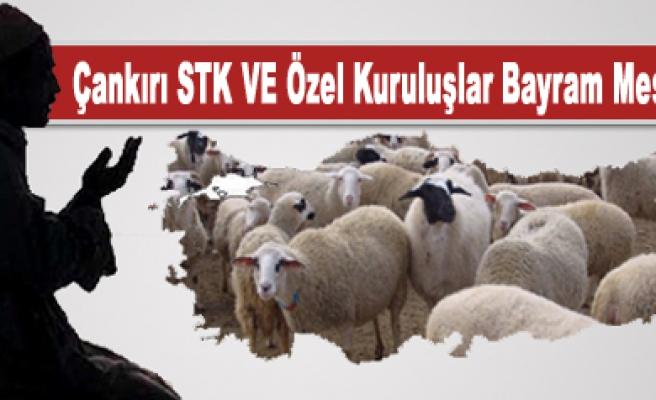 Çankırı STK  VE Özel Kuruluşlar Bayram mesajı