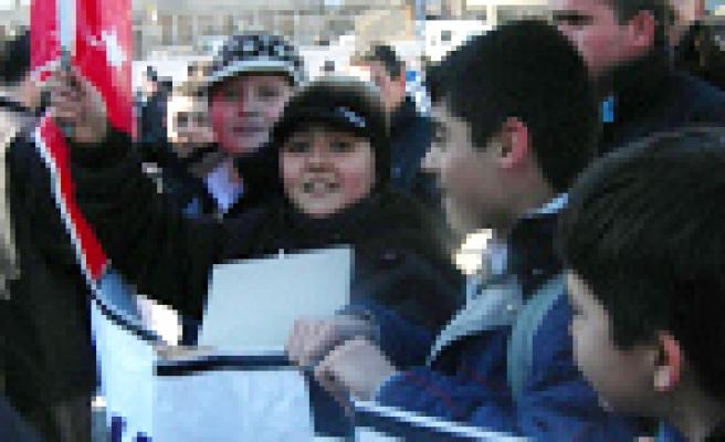 Çankırı'da İsraile Öfke Çığ Gibi