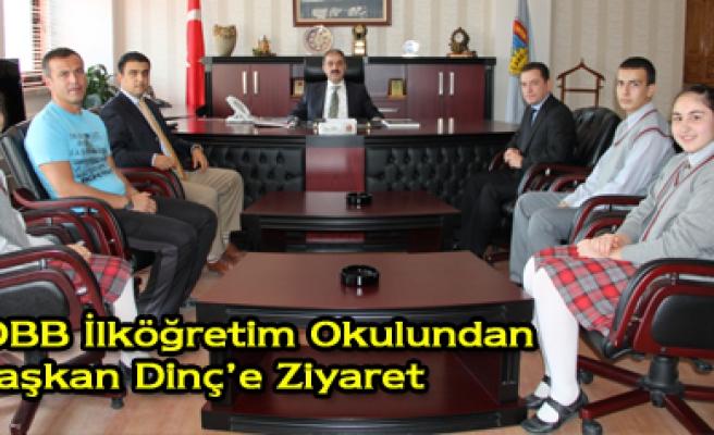 TOBB İlköğretim Okulundan Başkan Dinç e Ziyaret