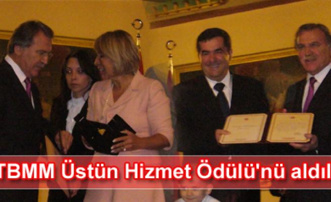 Düzbasan  ve  Bektaş TBMM Üstün Hizmet Ödülünü aldı