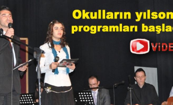 Okulların yılsonu programları başladı