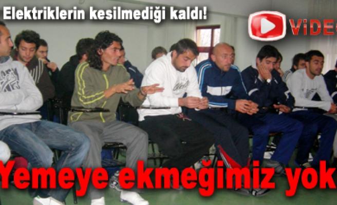 Çankırı Belediyesporlu Futbolcular sıkıntılarını paylaştı!