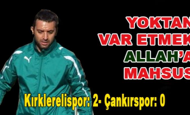 Çankırıspor yine eli boş döndü. Kırklarelispor 2 Çankırıs-0