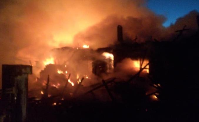 Çankırı'da üç köy evi yandı!