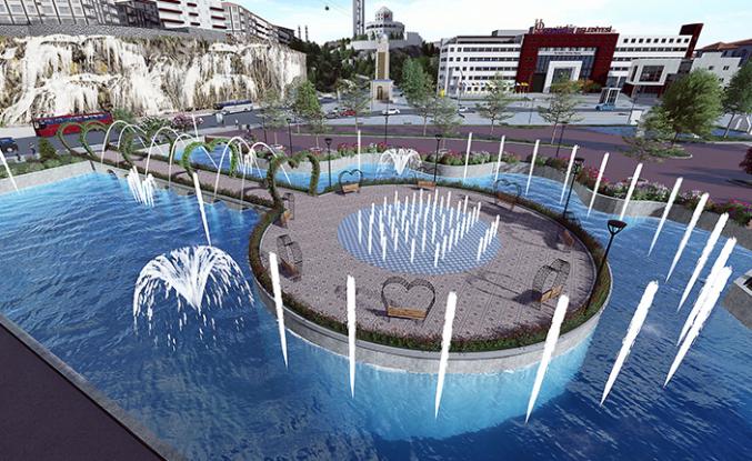Keçiören Belediyesi 'Türk Dünyası Su Ve Gül Meydanı' Projesine Hız Kazandırdı
