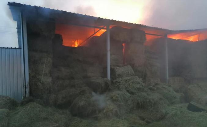Orta Kalfat'ta Mandıra yangını!