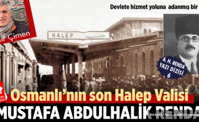 Son Halep Valisi Abdulhalik Renda