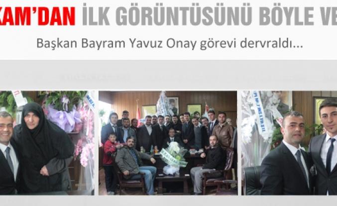 Başkan Onay görevi devraldı.