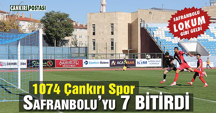 1074 Çankırı Spor Safranbolu'yu farklı mağlup etti!