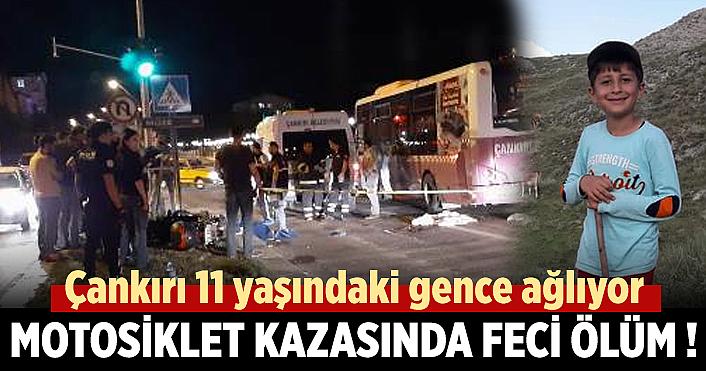Çankırı'da motosiklet kazası: 1 ölü,1 yaralı !