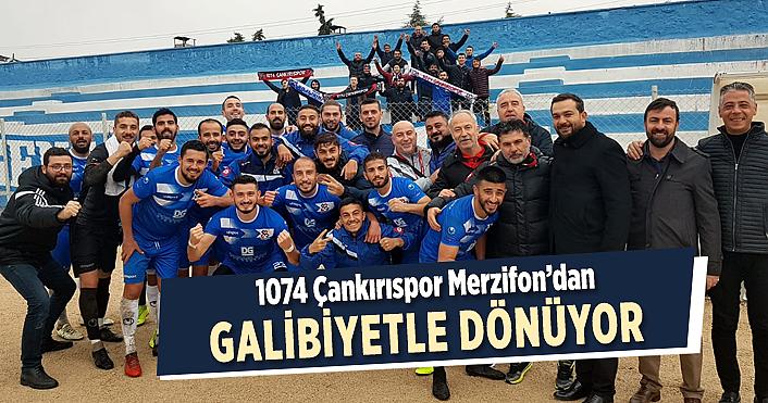 1074 Çankırspor Merzifon deplasmanından 3 puanla döndü!