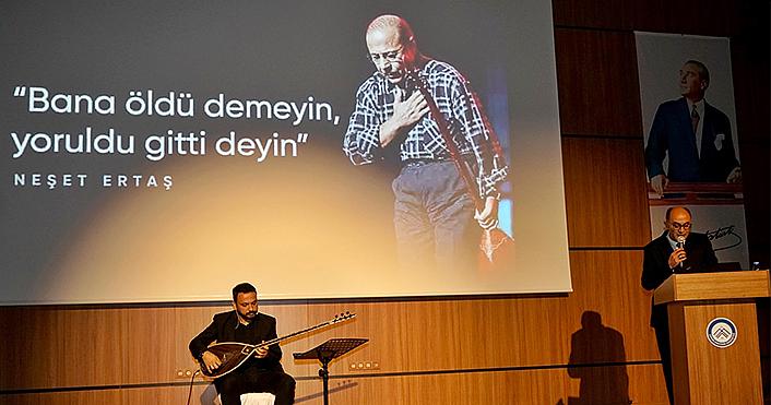 Bozkırın Tezenesi Neşet Ertaş, Çankırı Karatekin Üniversitesinde anıldı
