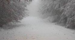 Çankırı'ya kar yağdı!