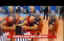 Nefesleri Kesen Türkiye Bilek Güreşi Şampiyonası Final Mücadelesi