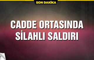 Çankırı'da cadde ortasında silahlı saldırı!...
