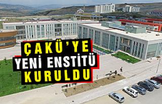 Çankırı Karatekin Üniversitesine yeni bir enstitü...