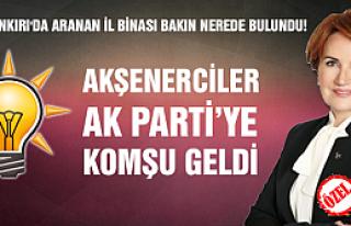Çankırı'da Akşenerciler Ak Partiye komşu geldi...