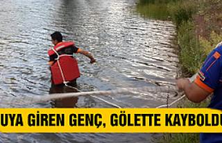 Eldivan'da  suya giren genç gölette kayboldu
