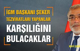 İGM Başkanı Şeker, meclis oturumunda sert çıktı