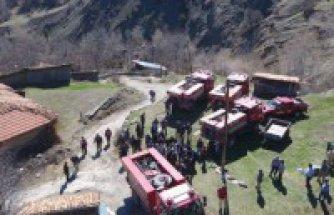 Ilgaz Serçeler köyünde  27 ev kül oldu