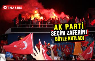 AK Parti seçim Zaferini böyle kutladı!