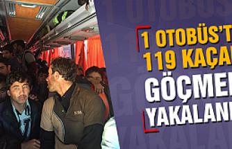 45 kişilik otobüste 119 kaçak göçmen yakalandı!