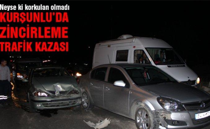 Çankırı'da zincirleme trafik kazası