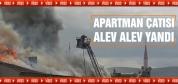 Apartman yangını kameralarda...