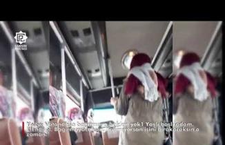 Halk Otobüsünde Şoför Yolcu Tartışması kamerada