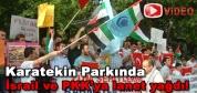 Çankırı da İsrail ve PKK protesto edildi.