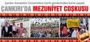 Çankırı Karatekin Üniversitesinde mezuniyet coşkusu!